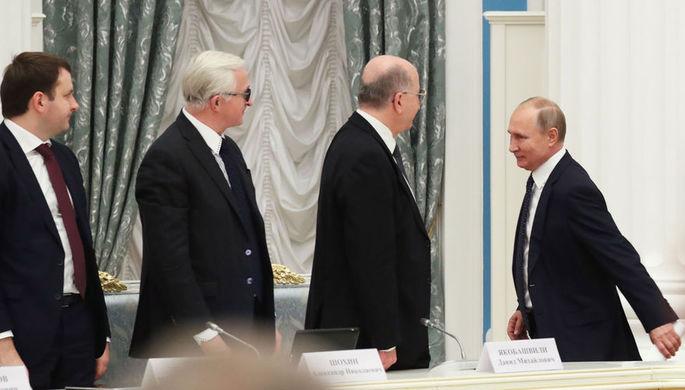 Встреча президента России Владимира Путина с представителями российских деловых кругов в Кремле, 26 декабря 2018 года