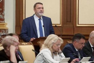 Глава ФАС Игорь Артемьев на заседании правительства России в Москве, 29 августа 2019 года