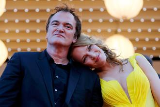 Квентин Тарантино и Ума Турман на Каннском кинофестивале, 2014 год