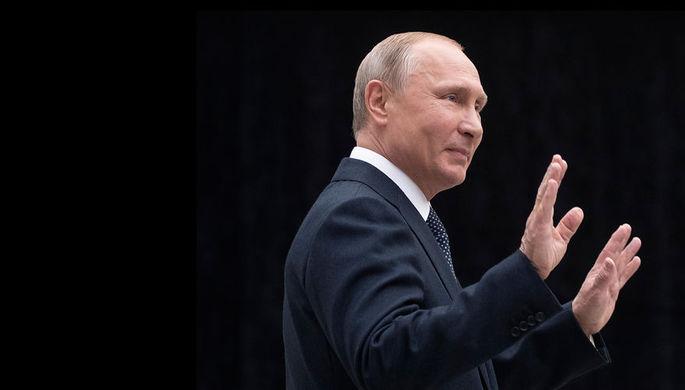 Президент России Владимир Путин после «прямой линии» в Москве, 7 июня 2018 года