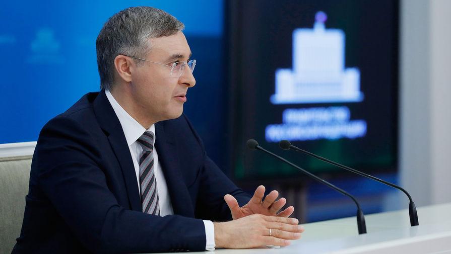 Министр науки и высшего образования России Валерий Фальков во время брифинга в Доме правительства, март 2020 года
