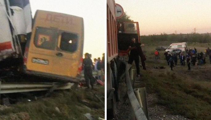 Трое погибших: в Дагестане произошло ДТП со школьным автобусом