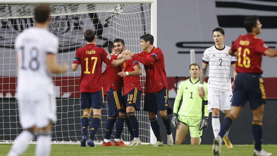 эпизод матча Испания- Германия