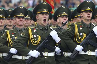 Во время парада в Минске, посвященного празднованию Дня независимости Белоруссии
