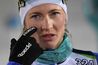 Дарья Домрачева выиграла женский спринт