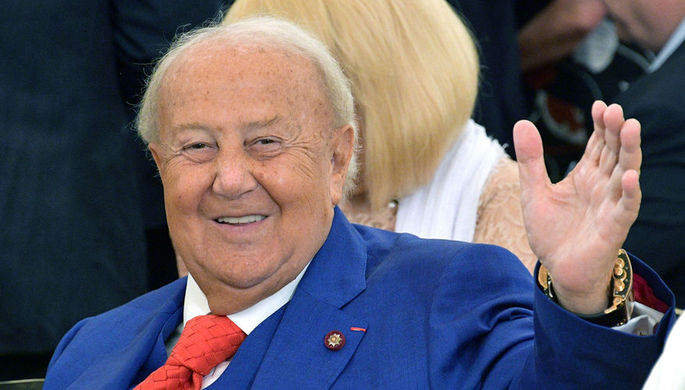 Бывший мэр города Москвы Юрий Лужков на презентации книги в Москве, 2018 год