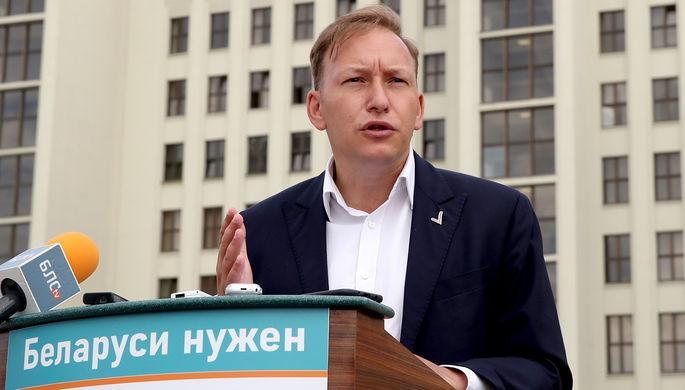 Андрей Дмитриев во время пресс-брифинга «Обращение к Парламенту и народу», 4 августа 2020 года