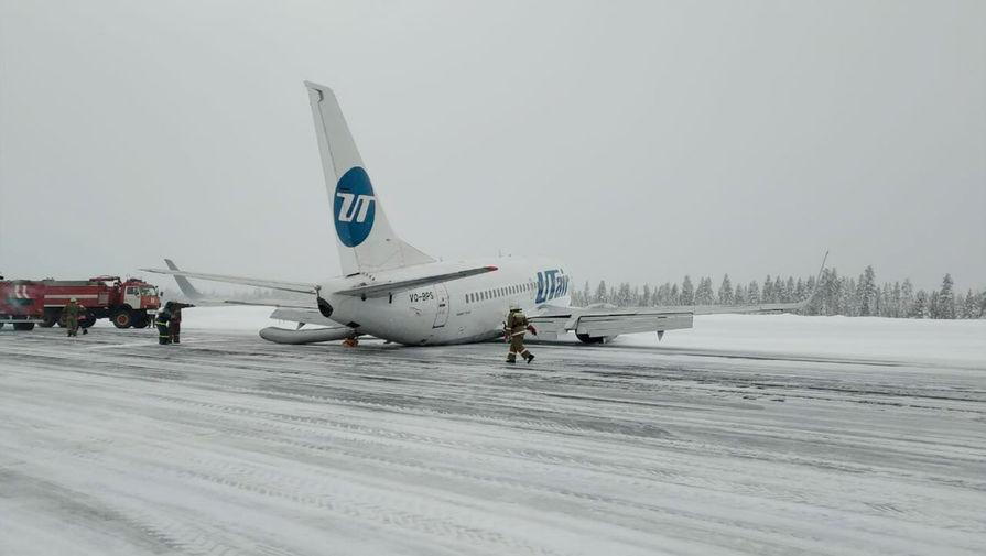 Жесткая посадка самолета авиакомпании Utair в аэропорту Усинска, 9 февраля 2020 года