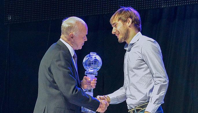 Бывший президент Международного союза биатлонистов (IBU) Андерс Бессеберг и Антон Шипулин