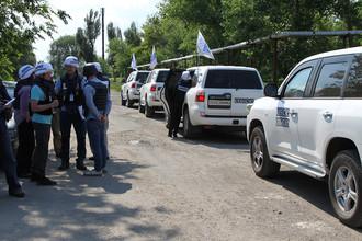 Представители миссии ОБСЕ на территории самопровозглашенной ДНР