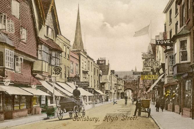 Хай-стрит в Солсбери, 1900 год