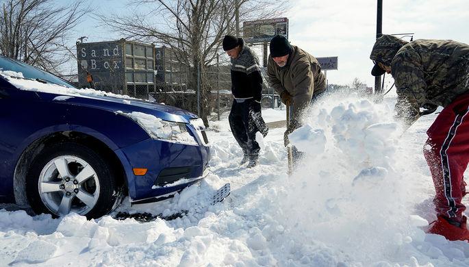 Последствия снегопада в городе Оклахома-Сити, 16 февраля 2021 года