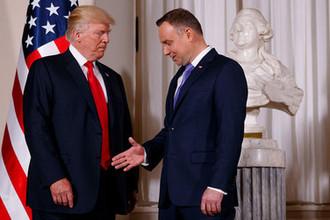 Президент США Дональд Трамп и президент Польши Анджей Дуда
