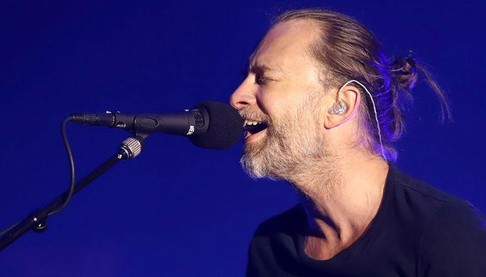 Том Йорк на концерте, 2018 год