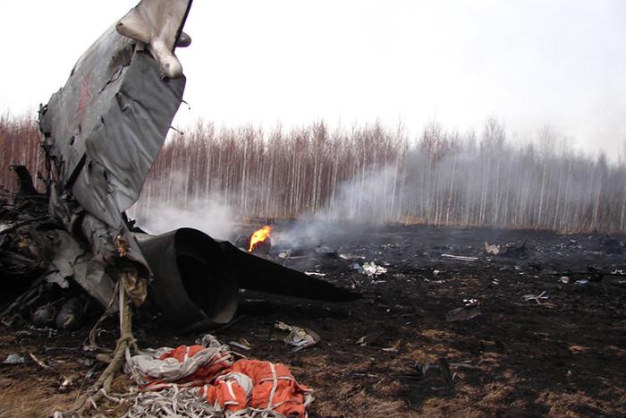Крушение фронтового бомбардировщика Су-24 в Челябинской области в 2012 году