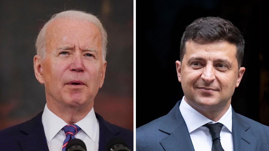 Зеленский попросил Байдена помочь Украине вступить в НАТО