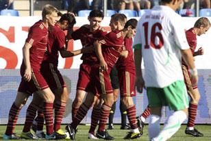 Широков забил первый мяч в сборной