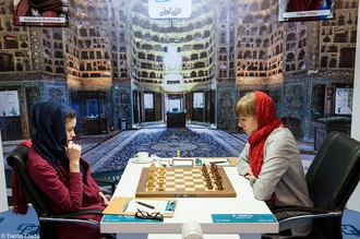 Российские шахматистки Ольга Гиря и Анастасия Боднарук в четвертый игровой день ЧМ среди женщин