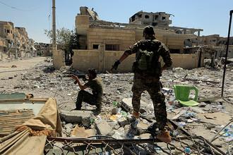 Архивное фото. Солдаты Сирийских демократических сил в окрестностях города Ракка, 14 августа 2017 года