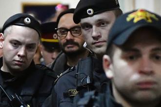 Режиссер Кирилл Серебренников в Басманном суде Москвы, где рассматривается ходатайство следствия о продлении срока домашнего ареста, 17 октября 2017 года