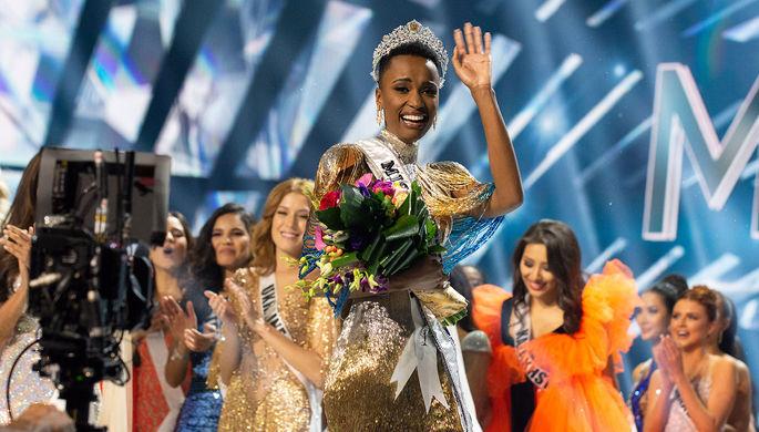 Победительница конкурса Мисс Вселенная- 2019» Зозибини Тунзи (ЮАР)