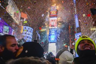 Празднование Нового года в Нью-Йорке