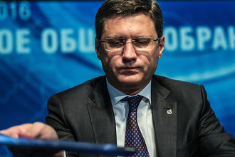 Член совета директоров ПАО «Газпром», министр энергетики РФ Александр Новак на годовом общем собрании акционеров ПАО «Газпром», 2016 год