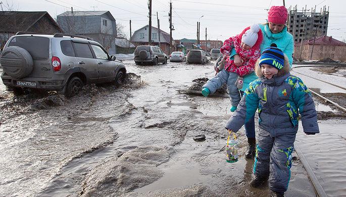 Улица в Омске, март 2016 года