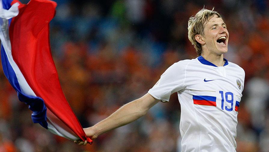 Роман Павлюченко после победы сборной России в четвертьфинале чемпионата Европы 2008 по футболу