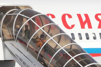 Самолет Ил-96 специального летного отряда «Россия» с бортовым номером RA-96023 в британском аэропорту Станстед перед вылетом в Россию, 20 марта 2018 года