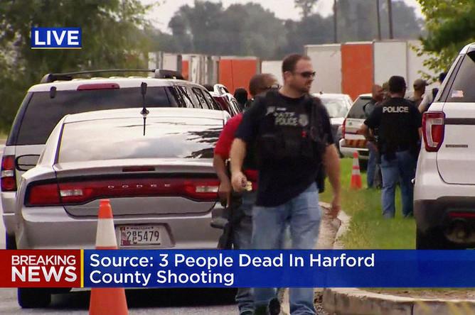 Ситуация на месте стрельбы в Абердине, штат Мэриленд, 20 сентября 2018 года