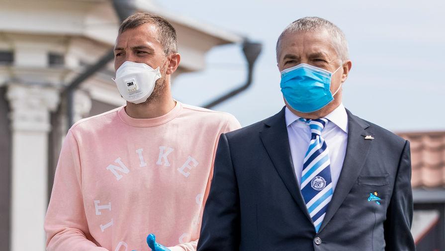 Капитан «Зенита» Артем Дзюба и генеральный директор клуба Александр Медведев