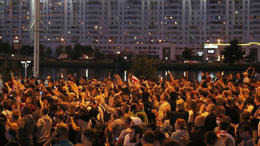Акции протеста в Минске после выборов президента Белоруссии, 10 августа 2020 года