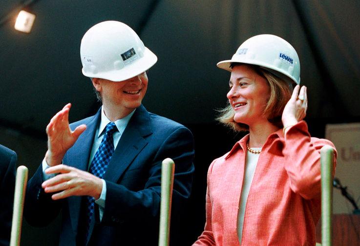 Билл и Мелинда Гейтс в Сиэтле, 2001 год