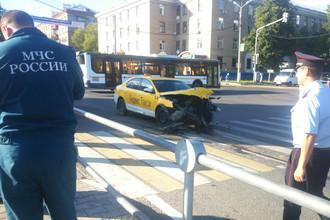 Последствия ДТП в городе Мытищи