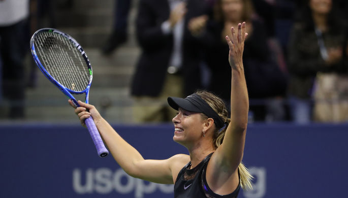 Мария Шарапова на турнире US Open.