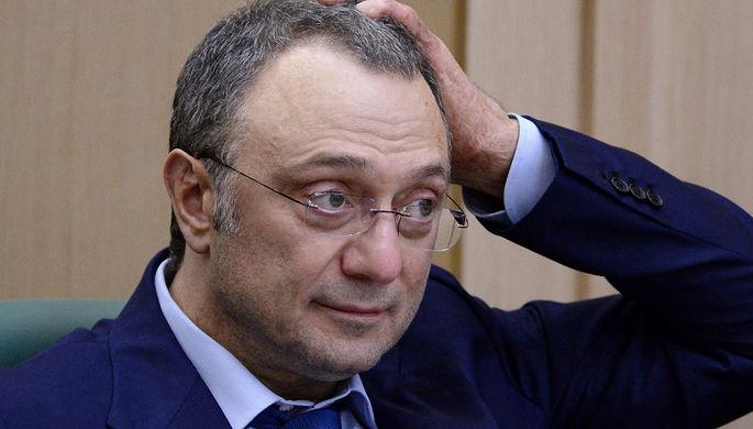 Член Совета Федерации России Сулейман Керимов во время заседания, октябрь 2016 года