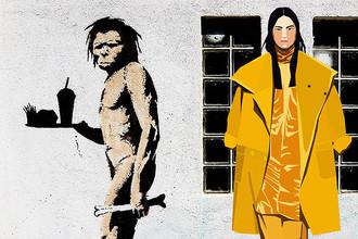 Коллаж граффити андеграундного художника Бэнкси и коллекций знаменитых домов высокой моды из блога Maga MGD (иллюстрации: Vika & Julia). MaxMara.