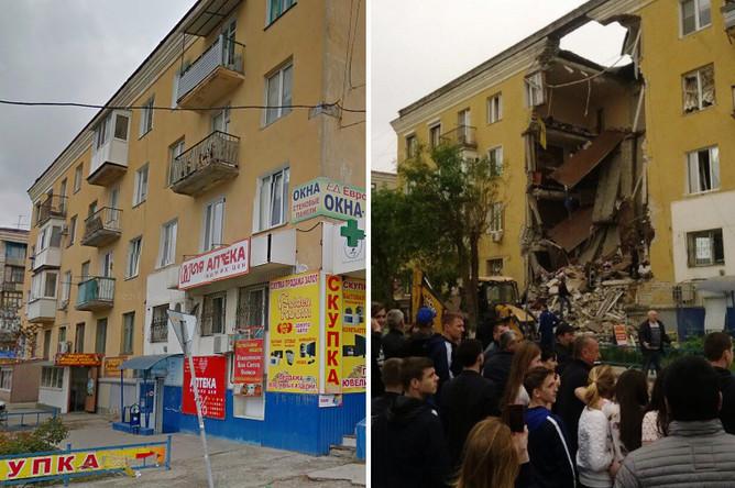 Пострадавший дом в ноябре 2016 года и последствия взрыва