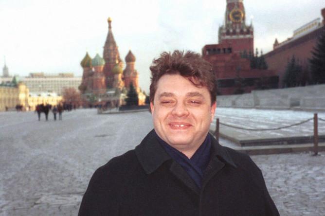 Генеральный секретарь Общероссийского коммунистического общественно- политического движения Андрей Брежнев, внук Леонида Ильича Брежнева, на Красной площади, 1998 год