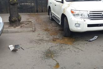 Нечистоты и шашки: в Киеве атаковали торгпредство РФ
