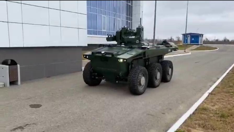 Рогозин показал робота-охранника космодрома Восточный