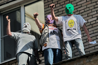 Акция в поддержку Pussy Riot у здания Хамовнического суда