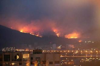 Пожары в Чите
