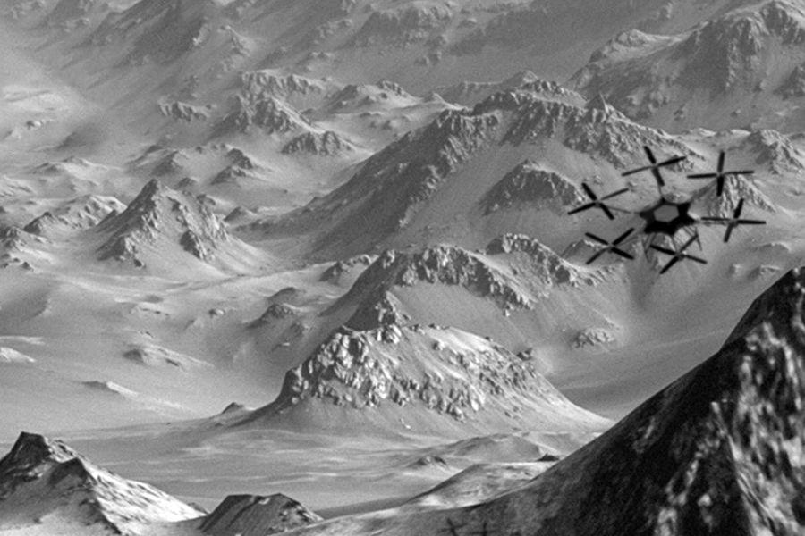 Исследование долины Мавра с помощью вертолета