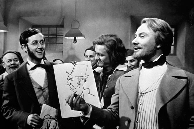 Андрей Миронов в роли Энгельса (справа) в фильме Григория Рошаля «Год как жизнь», 1965 год