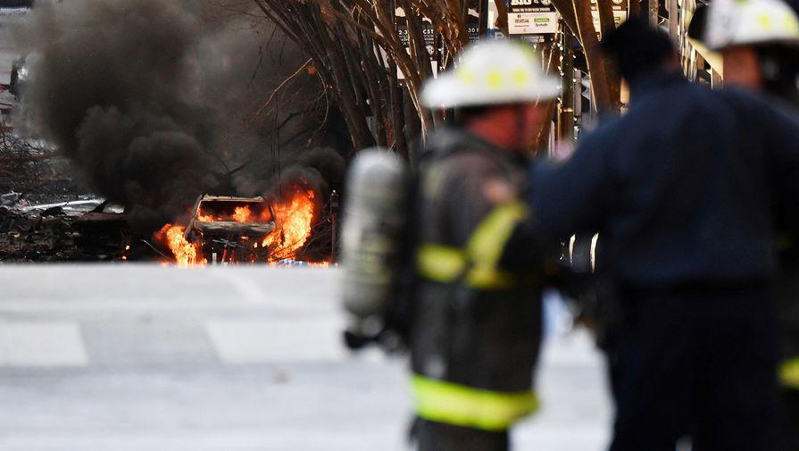 В центре Нэшвилла взорвался автомобиль