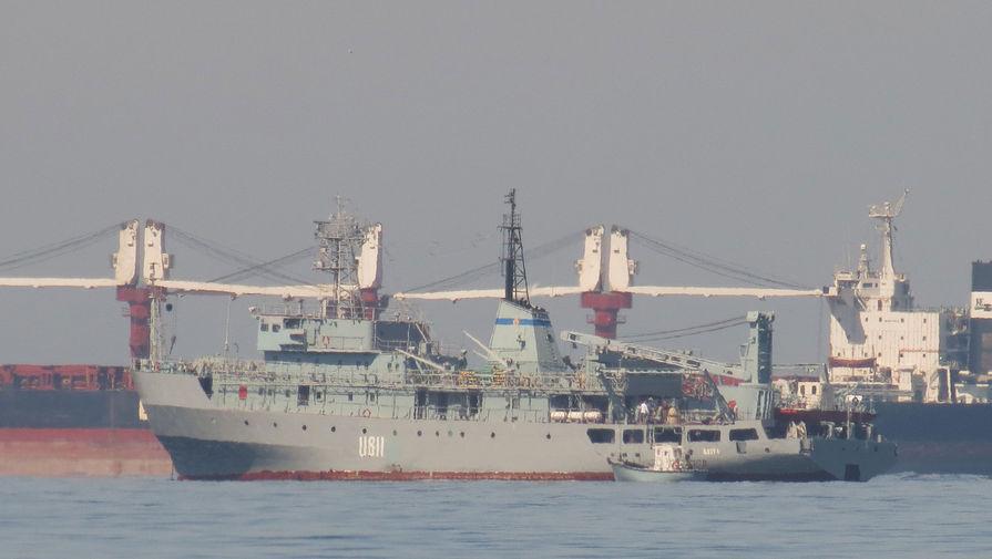 Потерпевший бедствие в Черном море украинский корабль Балта вернулся в Одессу