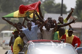 Болельщики сборной Сенегала прибыли в Экваториальную Гвинею, где сыграет их команда