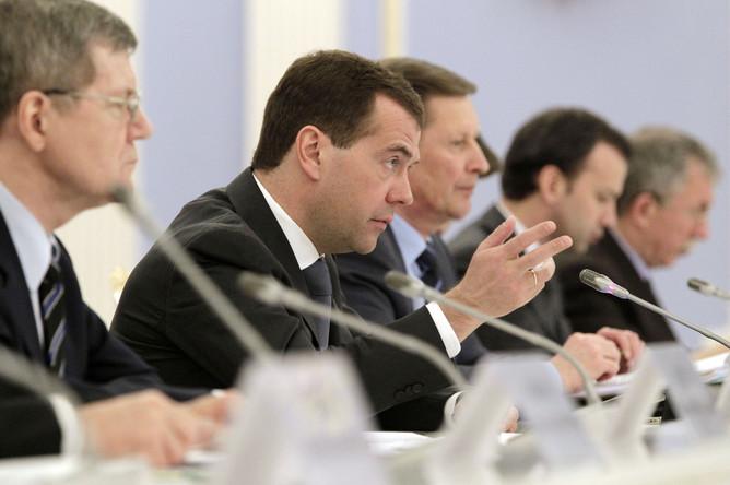 Медведев на заседании по противодействию коррупции